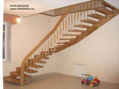 Лестницы на заказ.Отделка по бетону Новая Лестница