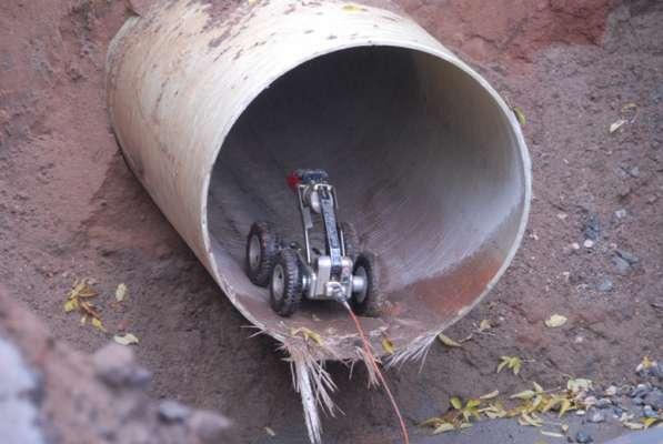 Видеосъемка труб канализации