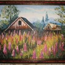 Интерьерная картина Иван-чай (живопись масло, мастихин), в Москве