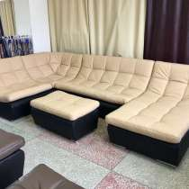 Кожаный модульный диван Ланкастер, в Зеленограде