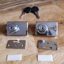 Замочки для мебельных дверок 2 шт с 2 ключиками, в Екатеринбурге