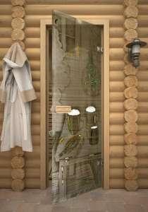 Стеклянные двери для бани, в г.Самара