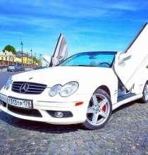 Кабриолет Mercedes CLK500 AMG Lambo Doors на свадьбу, в Санкт-Петербурге