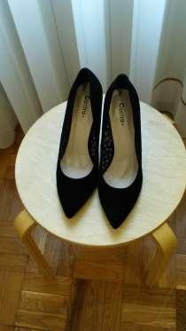 Туфли замшевые, чёрного цвета, в Санкт-Петербурге