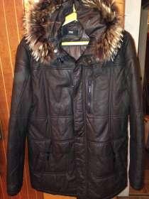 Куртка кожаная коричневого цвета, в г.Киев