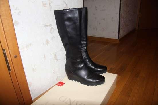 Черные кожаные сапоги Hоgl