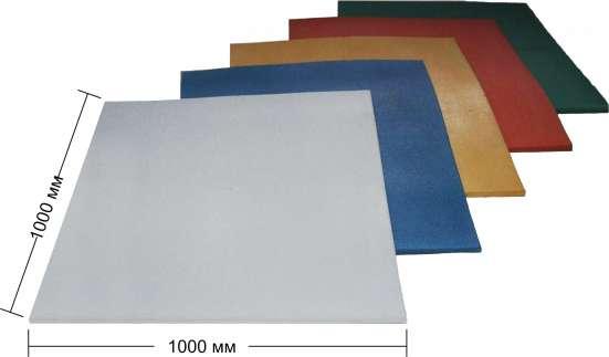 Резиновый мат GUMMI 1000х1000х10 мм. Цветной