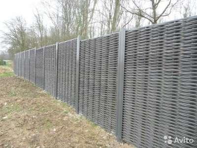 Искусственный плетеный забор
