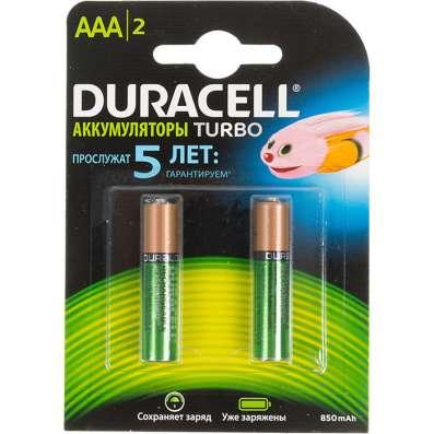 Аккумуляторы NiMH duracell HR03-2BL AAA 850 mAh