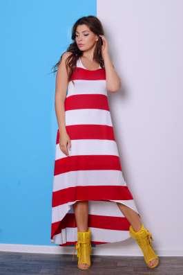 """Платье в полоску ассиметричной длины """"Пит-стоп"""""""