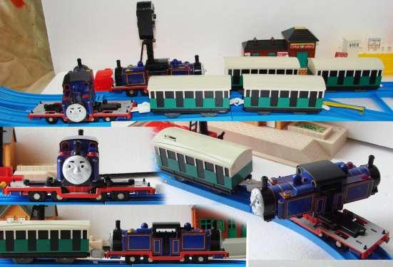 """Паровозик МАК с двумя вагонами. """"Томас и его друзья"""""""