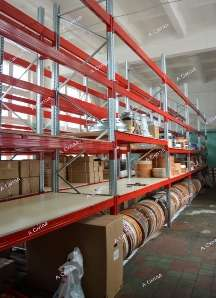 Стеллаж полочный складской с металлическими полками