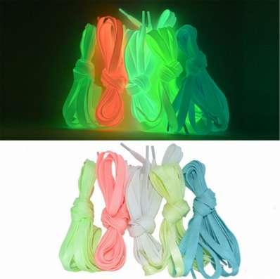 Шнурки 1м (светятся в темноте без батареек)