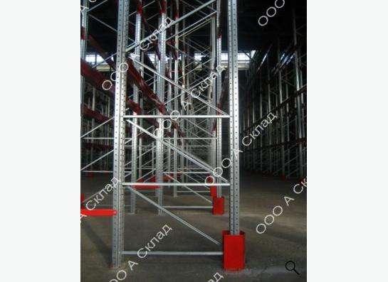 Защита рам для складских стеллажей. Отбойник. Производство.
