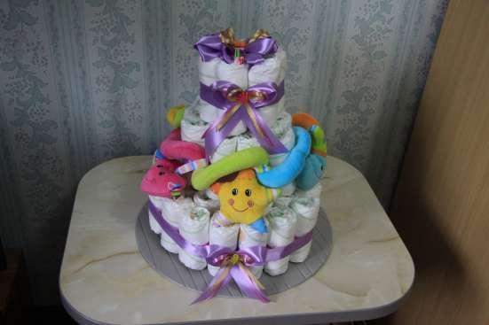Торт из подгузников на рождение малыша