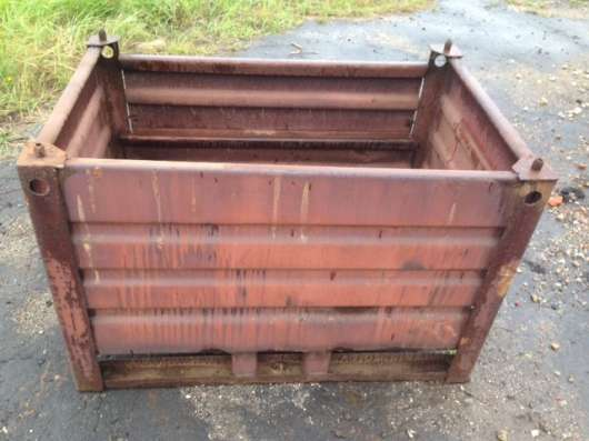 Тара металлическая с откидной стенкой (контейнер) б/у