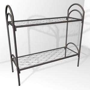 Двухъярусные железные кровати, для казарм, металлические кровати с ДСП спинками, кровати для бытовок, кровати оптом, Низкая цена.