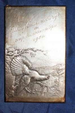 Серебряная накладка «Глухарь» из наркомовского набора. СССР, 1930-е гг. в Санкт-Петербурге Фото 3