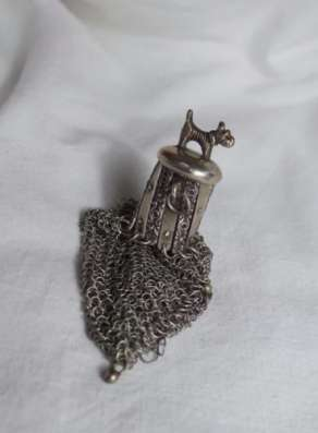 2 Кошелька для монет, старинные, серебро