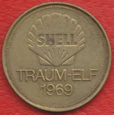 Жетон Shell Шелл Зеелер футбол Traum-elf 1969