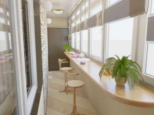 Отделка и утепление балконов и лоджий – варианты оформления в Сергиевом Посаде Фото 3