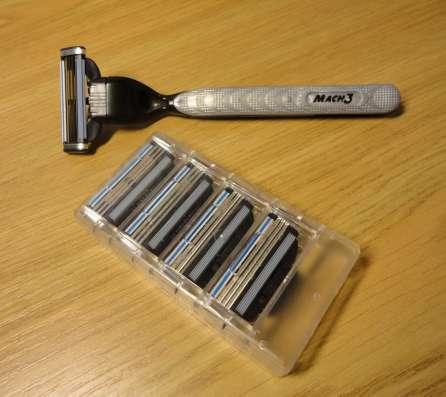 Лезвия кассеты для бритья Джилет - Gillette Mach 3