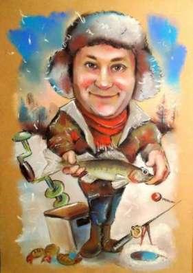 Скульптурные шаржи и барельефы, шаржи и портреты по фото в Нижнем Новгороде Фото 1