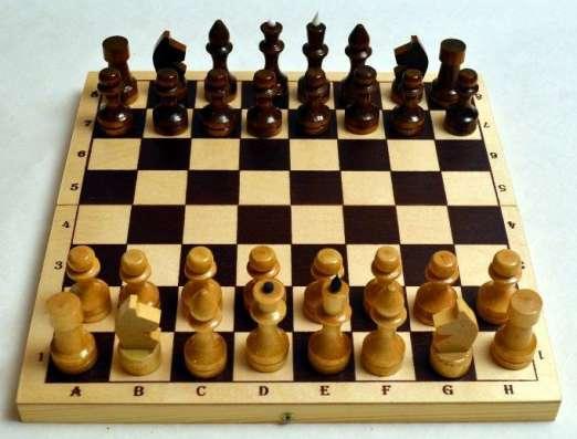 Шахматы лакированные Обиходные 290х145х38 новые с доставкой в Волгограде Фото 2
