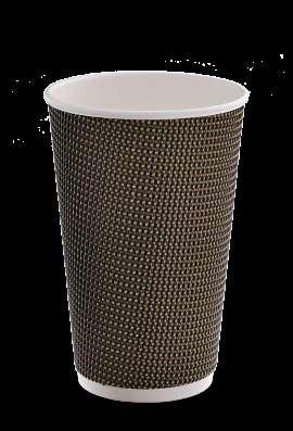 Продаю бумажные стаканы с тройными рифлёными стенками