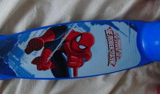 Самокат Spider-Man трехколесный , светящиеся колеса PVC в Москве Фото 1