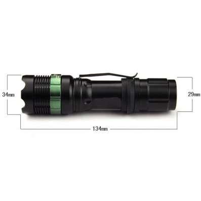 Светодиодный фонарь 2000lm на XM-L T6 с зажимом