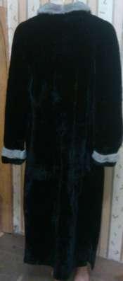 Черная шуба мутоновая