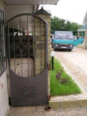 Ворота, калитка, забор, козырёк, перила