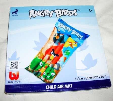 Матрас надувной детский Angry Birds длина 119 см, Bestway в Москве Фото 1