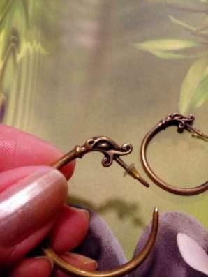 серьги-кольца из латуни в Санкт-Петербурге Фото 3