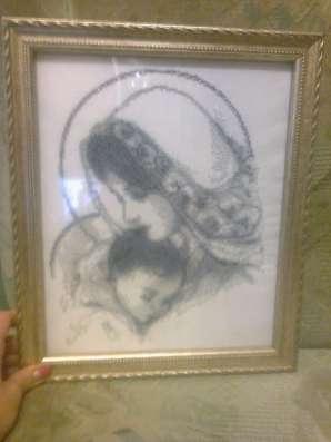 Вышивка именных, венчальных икон, картин бисером на заказ в г. Бердянск Фото 2