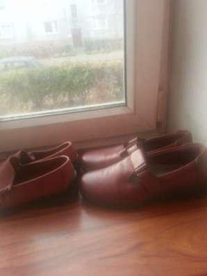 кожаные туфли пакетом