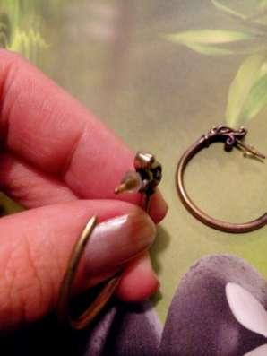 серьги-кольца из латуни