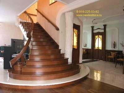 Лестницы из массива для дома и дачи Новая Лестница