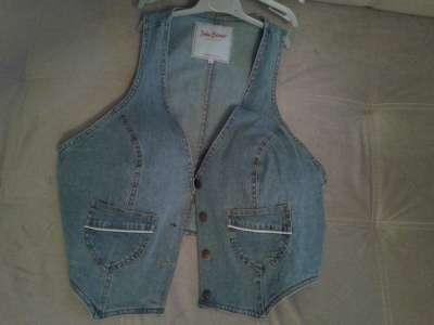 Новый жен джинс жилет 50 разм- пересылаю куплен в Бонпри