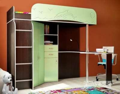 Фанки Соло 3 Кровать-чердак, цвет венге