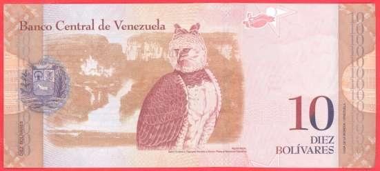 Венесуэла 10 боливаров 2011 г