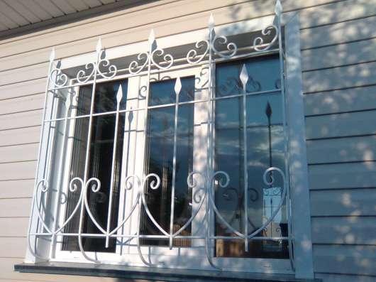 Решётки металлические на окна в Новосибирске Фото 1