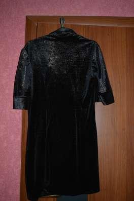 Платье велюровое чёрное