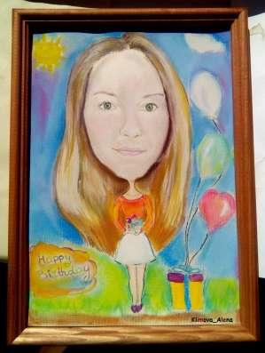 Портреты и шаржи по фото