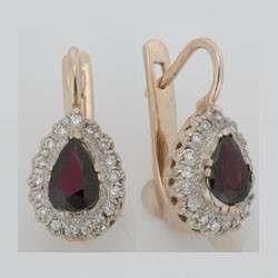 Золотые серьги с бриллиантами и рубинами, новые