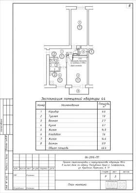 Проекты перепланировок квартир