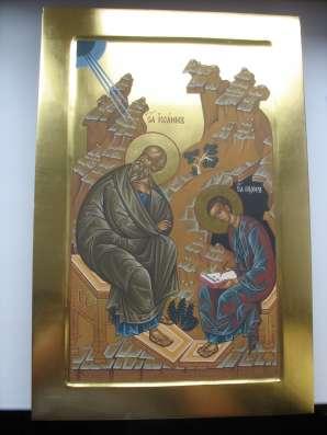 Икона храмовая. Евангелист Иоан и Прохор. На золоте