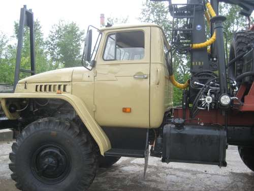 Лесовоз урал 4320, с консервации с новым манипулятором Омтл-70,02 в Миассе Фото 2