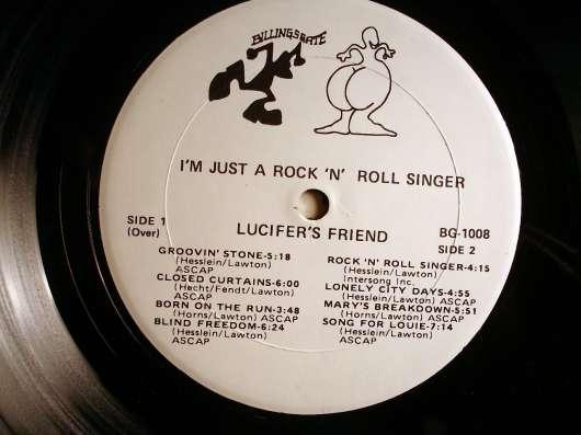 Пластинка Lucifer's Friend – I'm Just A Rock'n'Roll Singer в Санкт-Петербурге Фото 2